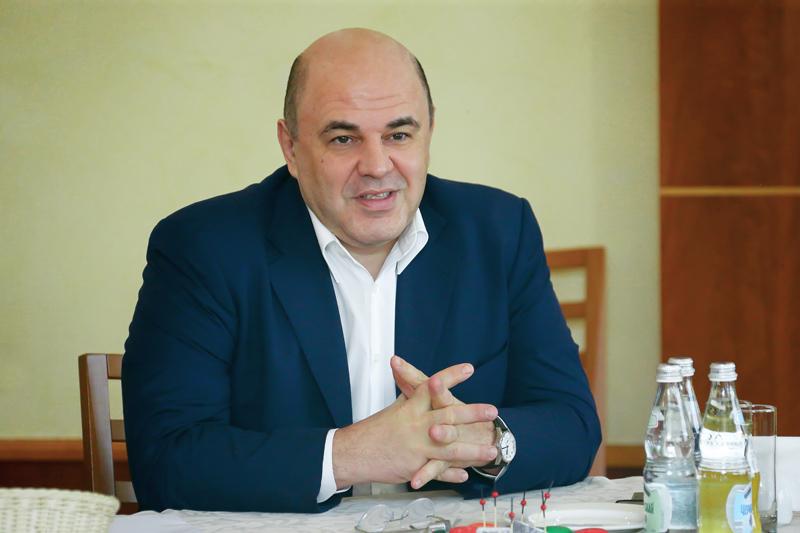 Встреча с журналистами Михаил Мишустин